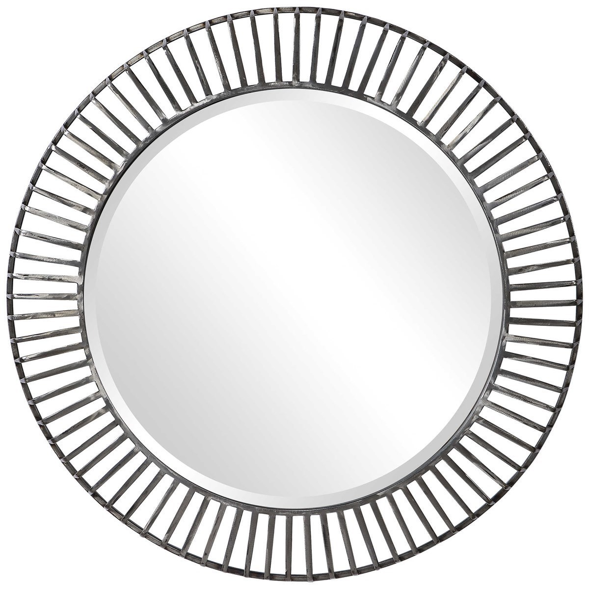 Mirrors - Round Schwartz Metal Round Mirror by Uttermost at Miller Waldrop Furniture and Decor