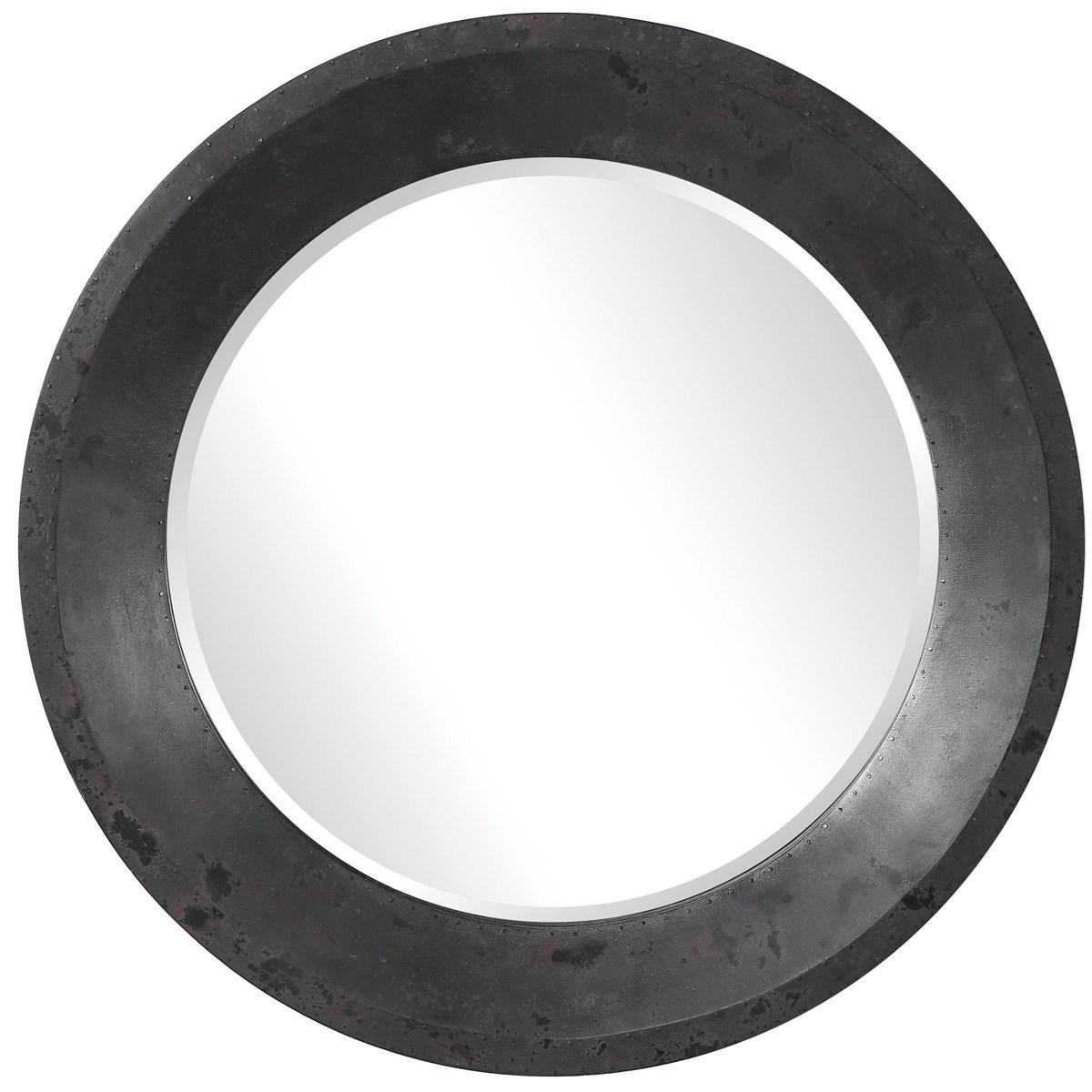 Mirrors - Round Frazier Round Industrial Mirror by Uttermost at Mueller Furniture