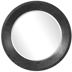 Frazier Round Industrial Mirror