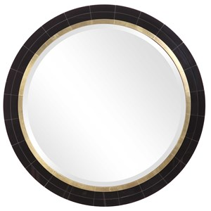 Nayla Tiled Round Mirror