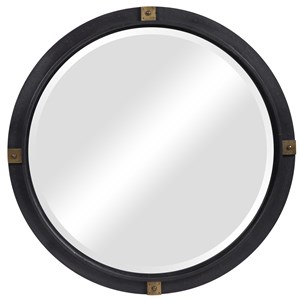 Tull Industrial Round Mirror
