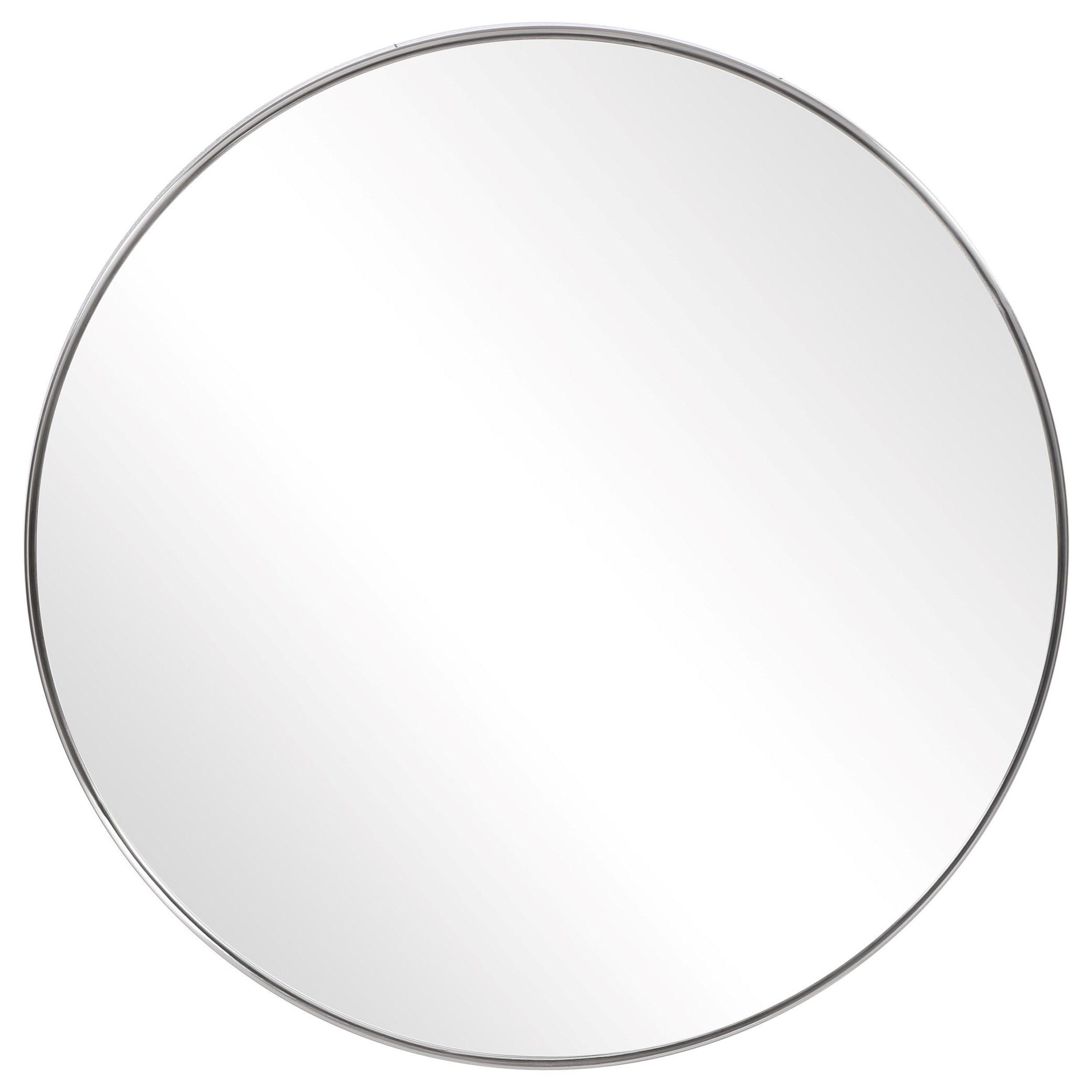 Mirrors - Round Coulson Nickel Round Mirror by Uttermost at Mueller Furniture