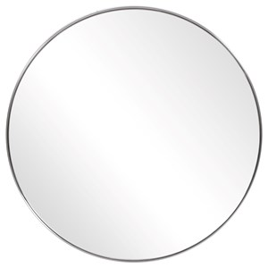 Coulson Nickel Round Mirror