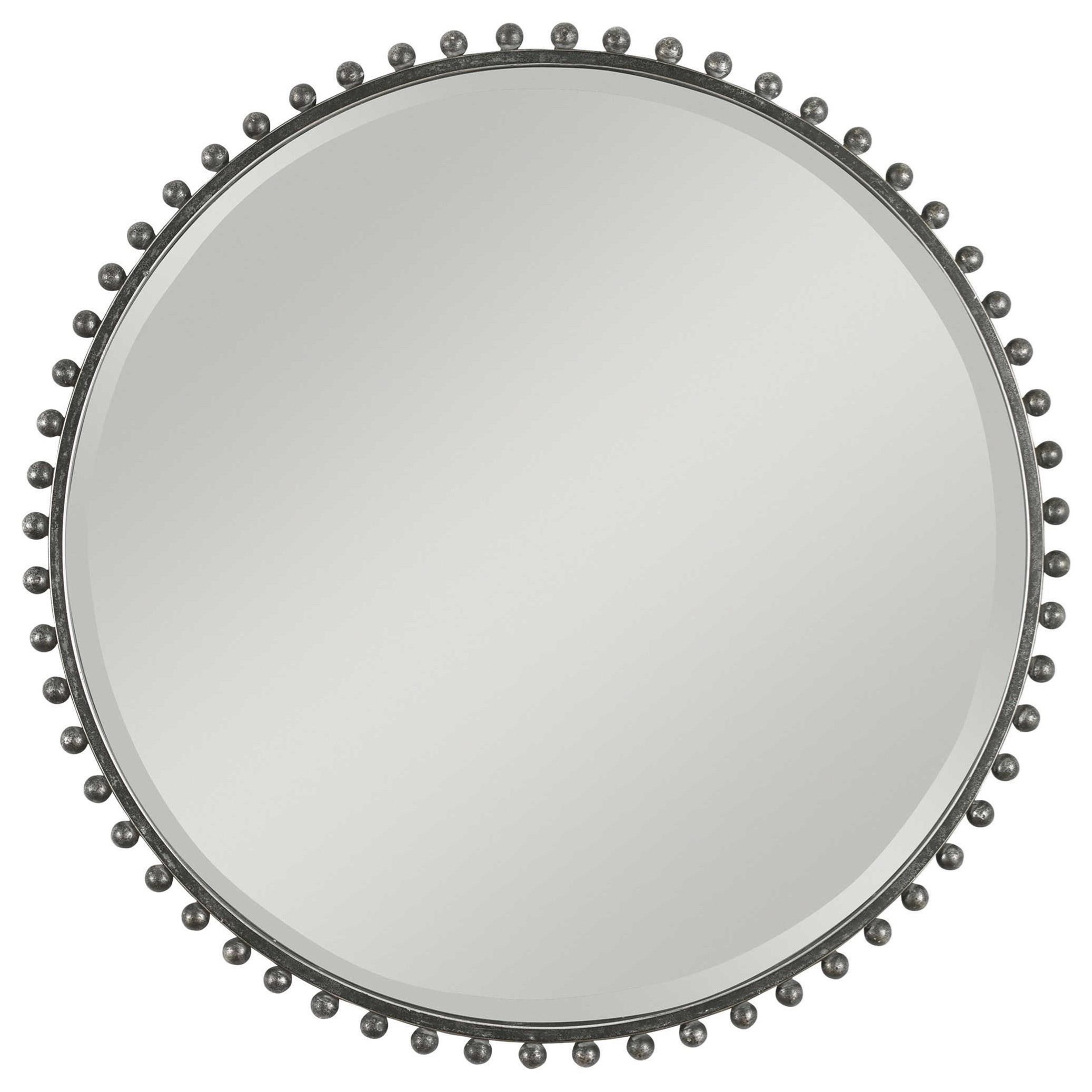 Mirrors - Round Taza Round Iron Mirror by Uttermost at Miller Waldrop Furniture and Decor