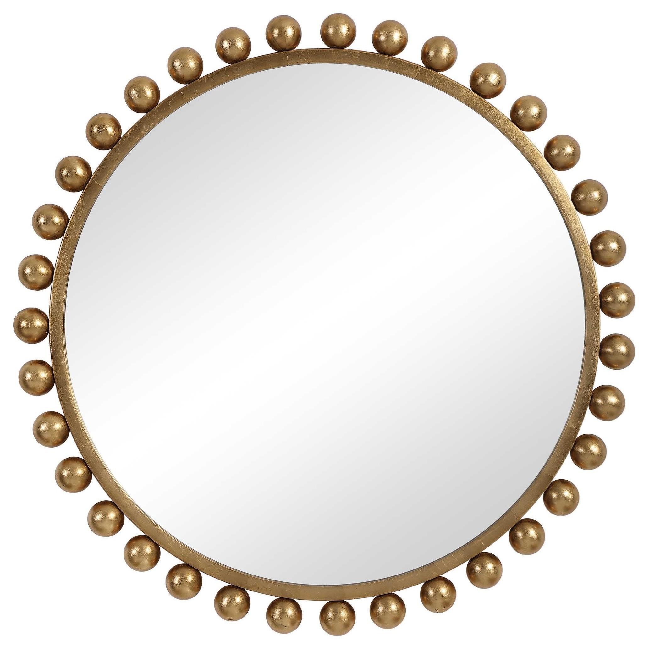 Mirrors - Round Cyra Gold Round Mirror by Uttermost at Miller Waldrop Furniture and Decor