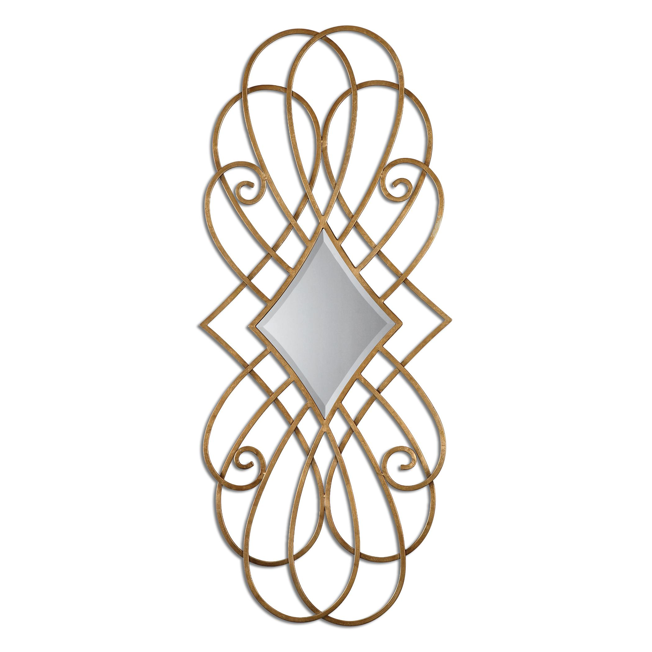 Mirrors Lilou Gold Mirror by Uttermost at Upper Room Home Furnishings