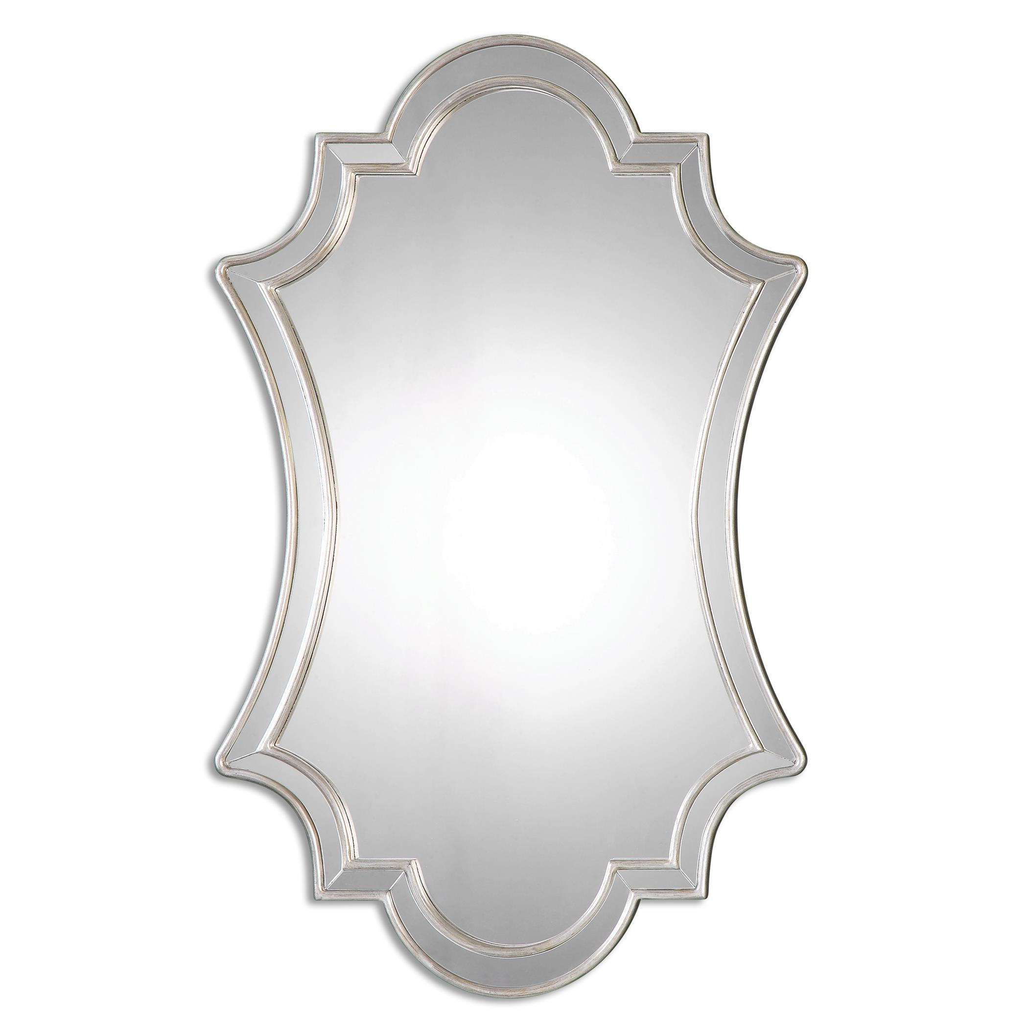 Mirrors Elara Antiqued Silver Wall Mirror by Uttermost at Lagniappe Home Store