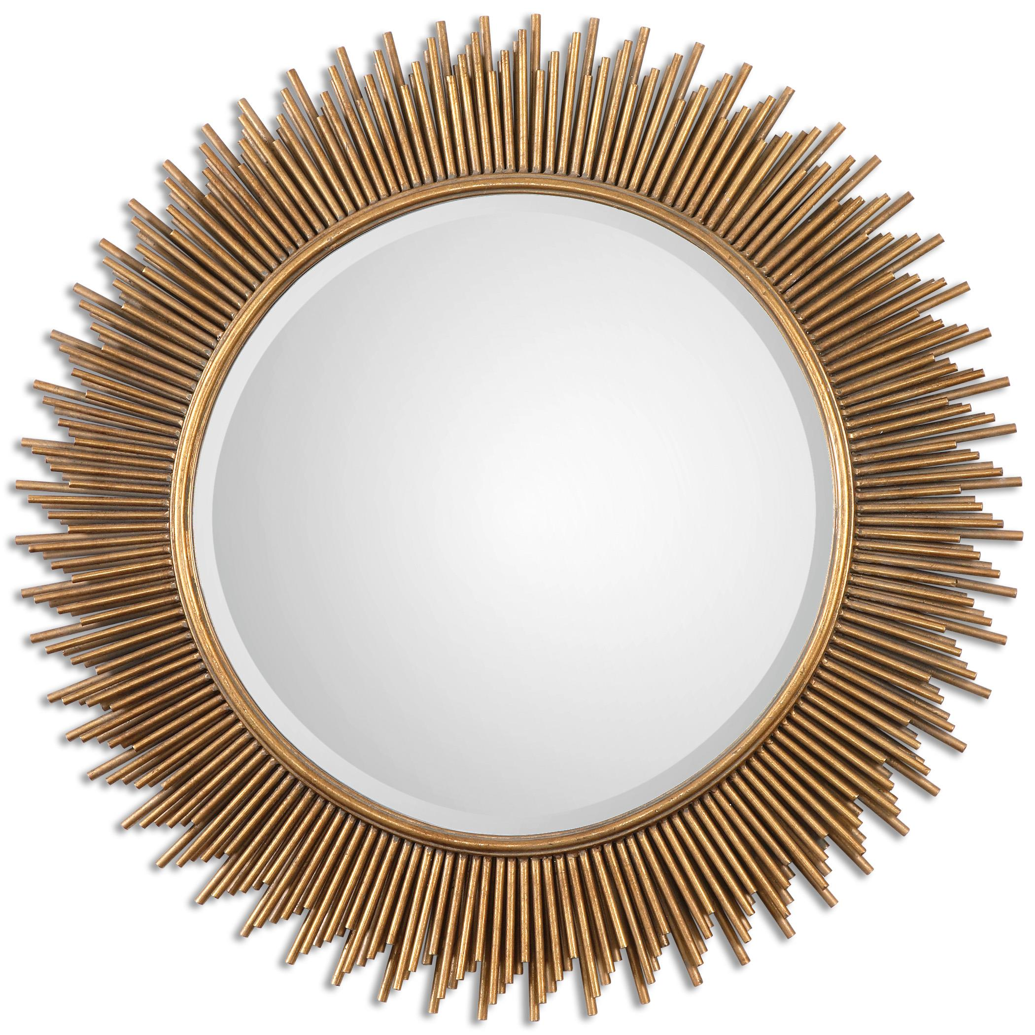 Mirrors - Round Marlo Round Gold Mirror by Uttermost at Miller Waldrop Furniture and Decor