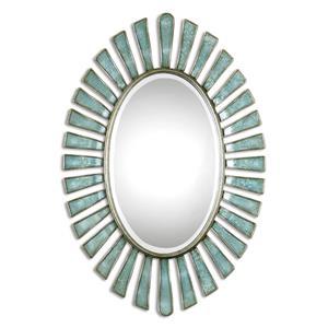 Uttermost Mirrors Morvoren Blue-Gray Oval Mirror