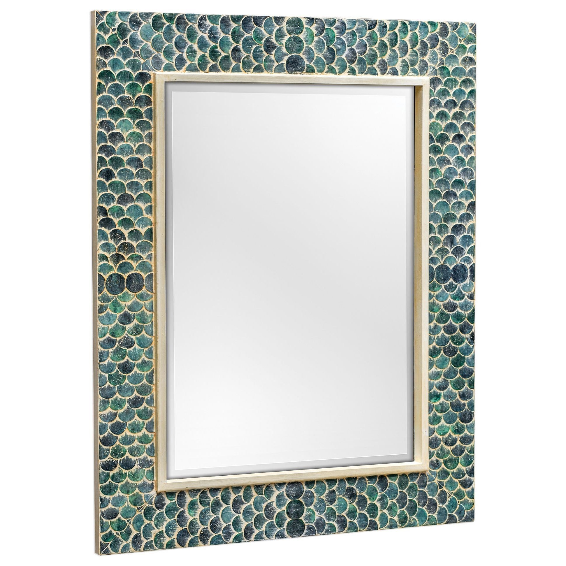 Mirrors Makaria Coastal Blue Mirror by Uttermost at Suburban Furniture