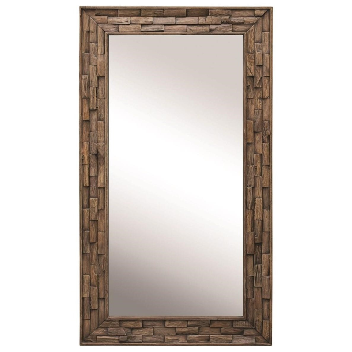 Mirrors Damon Mosaic Wood Mirror by Uttermost at Wayside Furniture