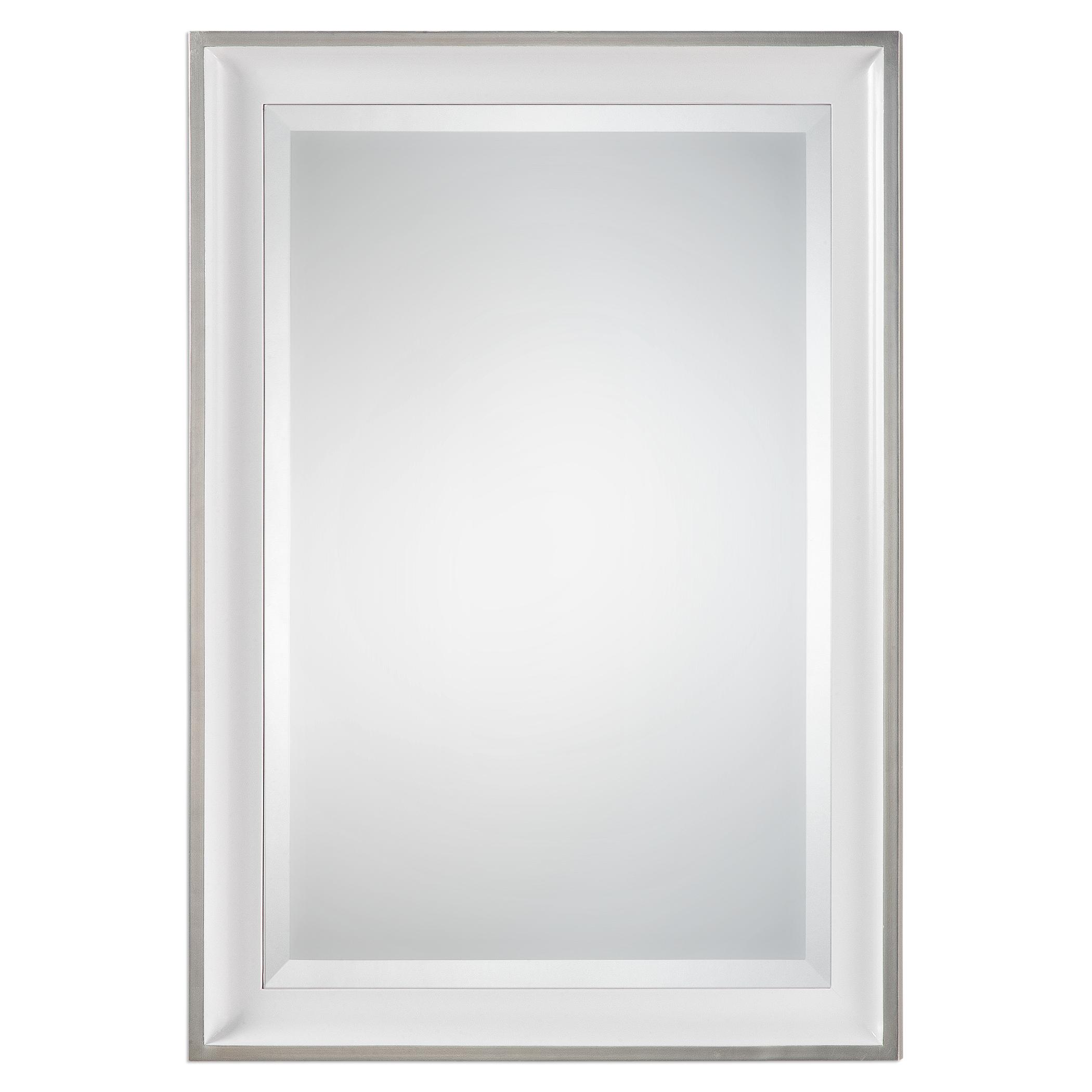Mirrors Lahvahn White Silver Mirror by Uttermost at Mueller Furniture