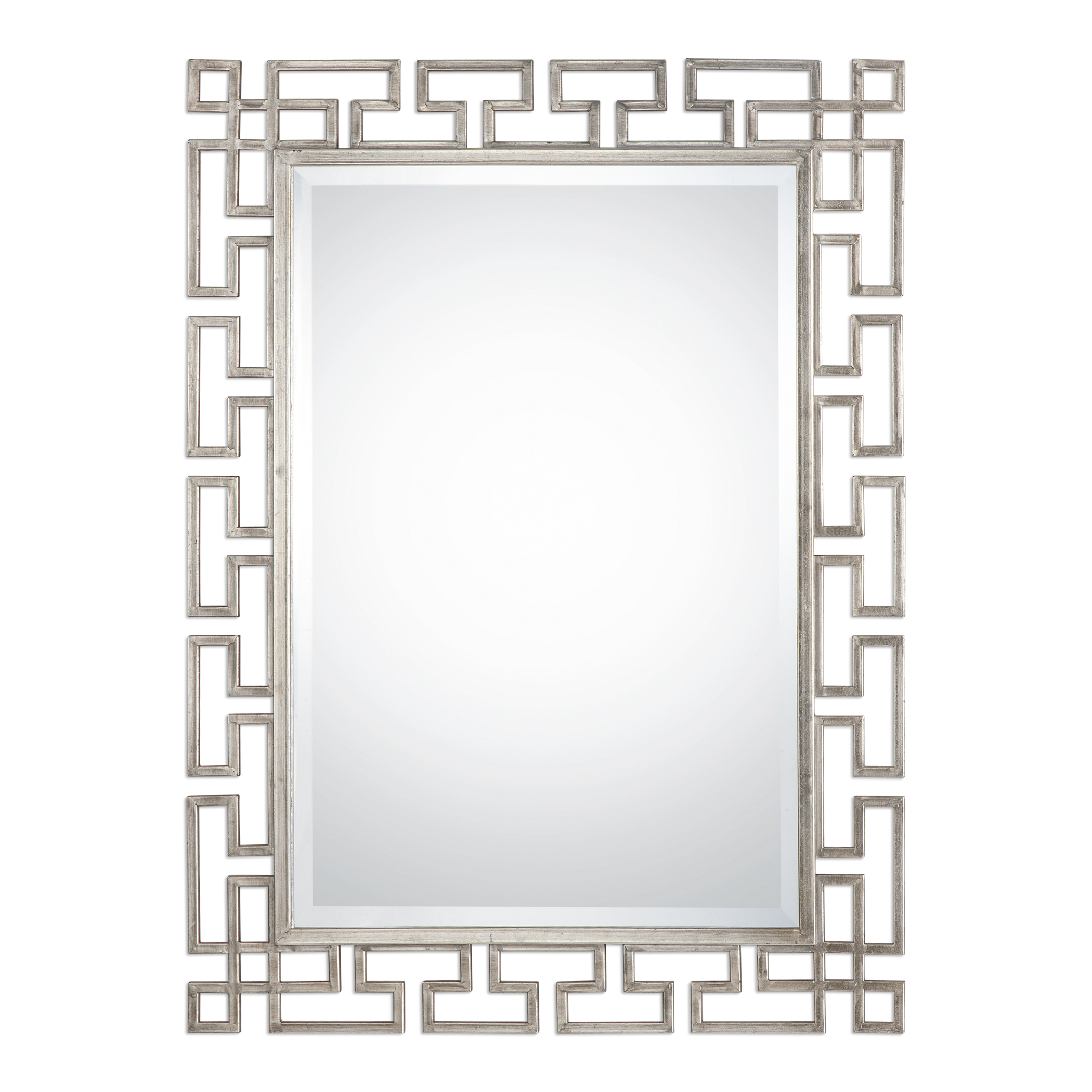 Mirrors Agata Silver Mirror by Uttermost at Wayside Furniture