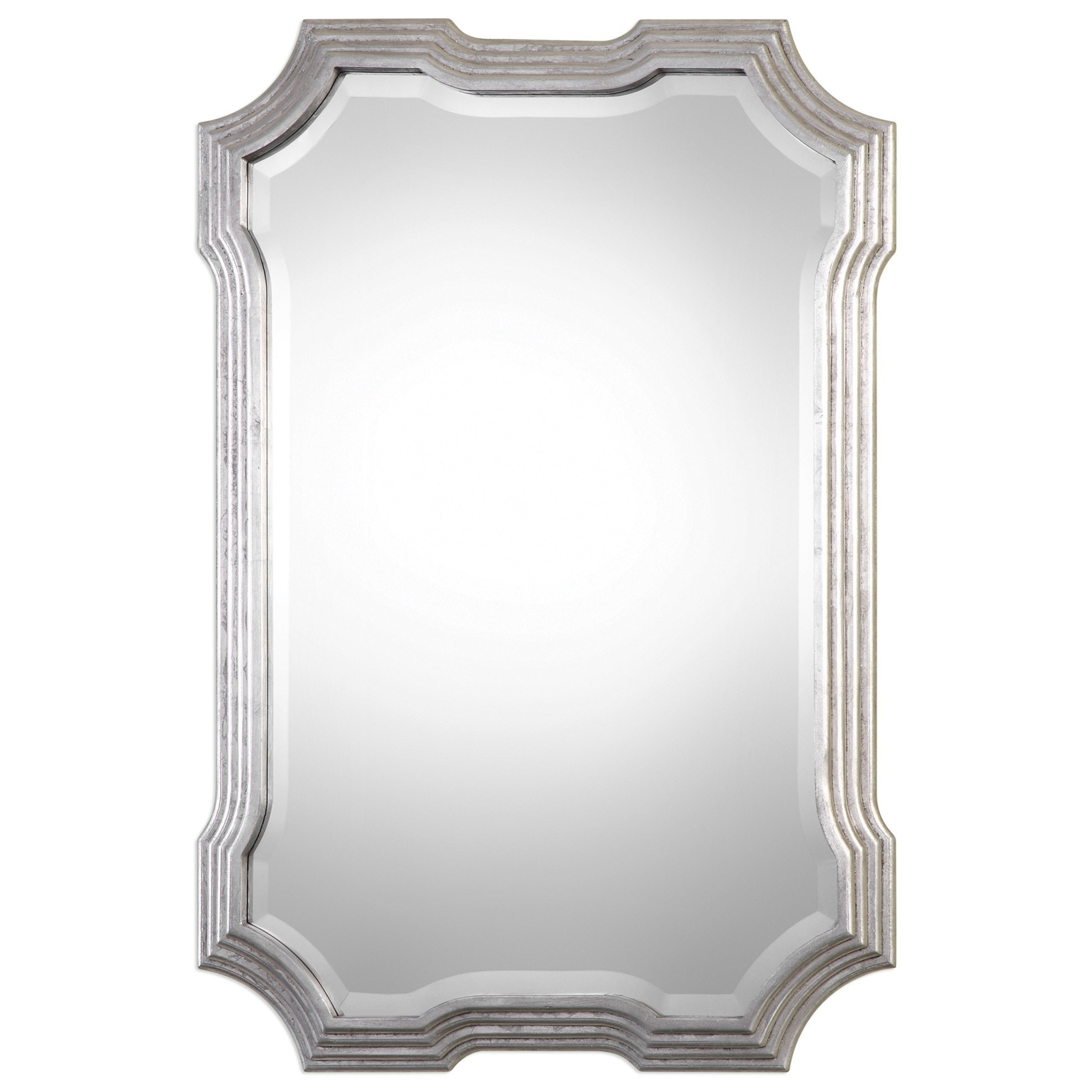Mirrors  Halima Silver Step Mirror by Uttermost at Stuckey Furniture