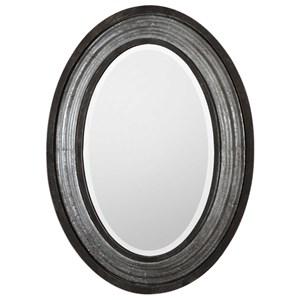 Galina Iron Oval Mirror
