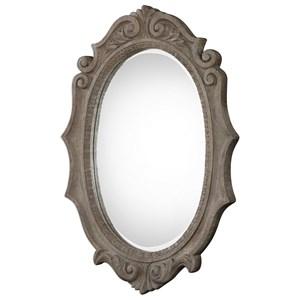 Serafina Aged Scroll Oval Mirror