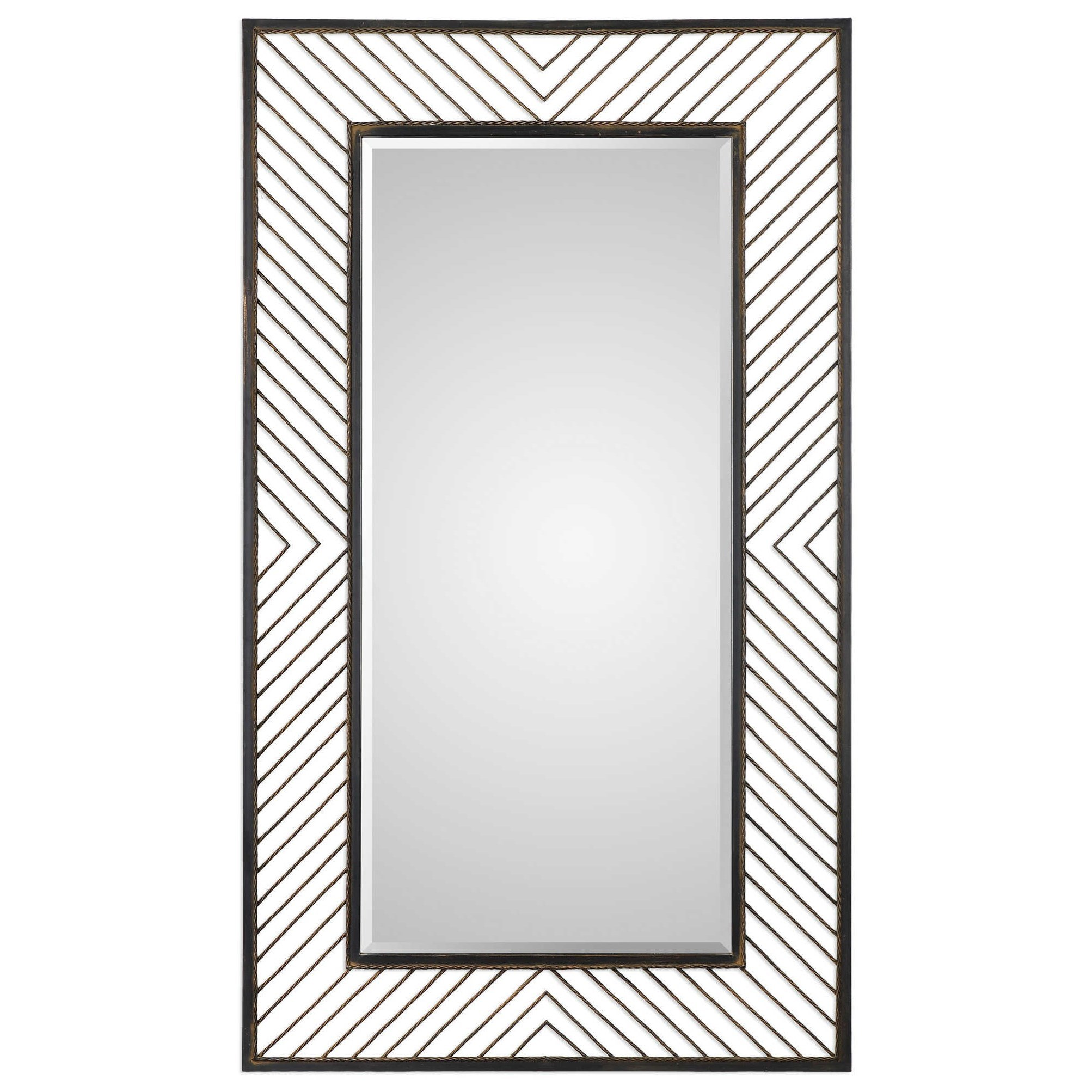 Mirrors Karel Chevron Mirror by Uttermost at Miller Waldrop Furniture and Decor