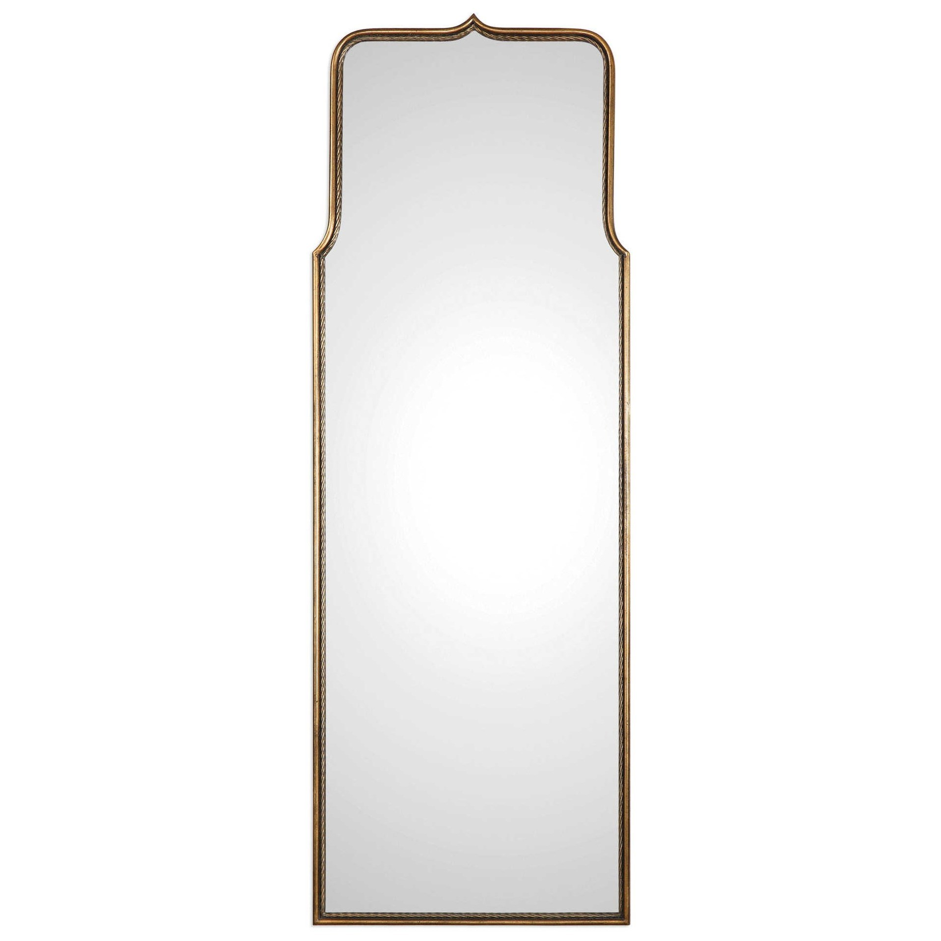 Mirrors Adelasia Antiqued Gold Mirror by Uttermost at Upper Room Home Furnishings
