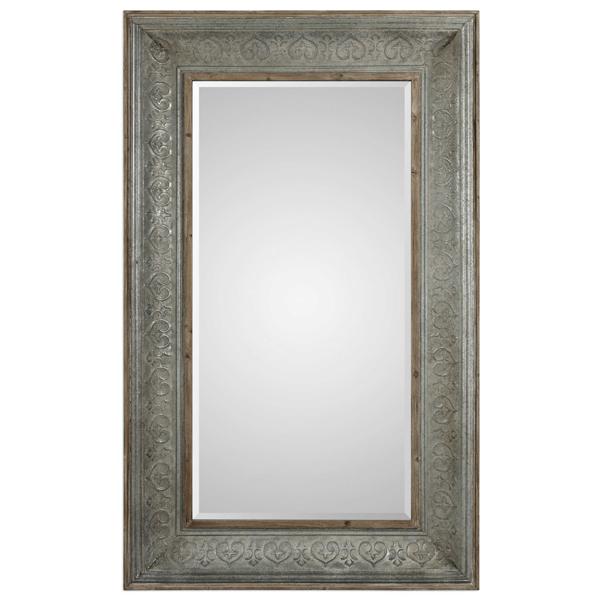 Mirrors Bianca Aged Gray Mirror by Uttermost at Miller Waldrop Furniture and Decor