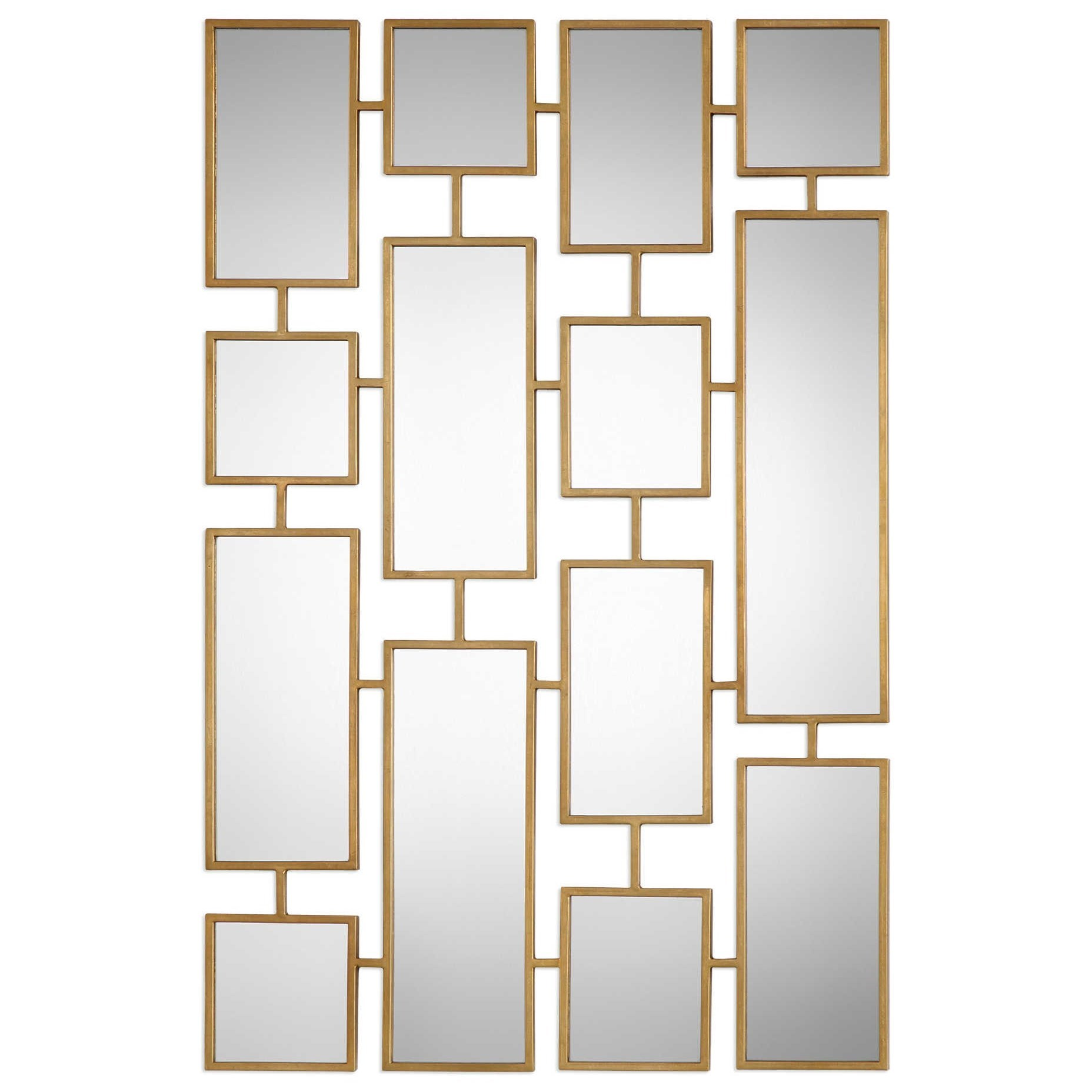 Mirrors Kennon Forged Gold Rectangles Mirror by Uttermost at Mueller Furniture