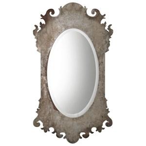 Vitravo Oxidized Silver Oval Mirror
