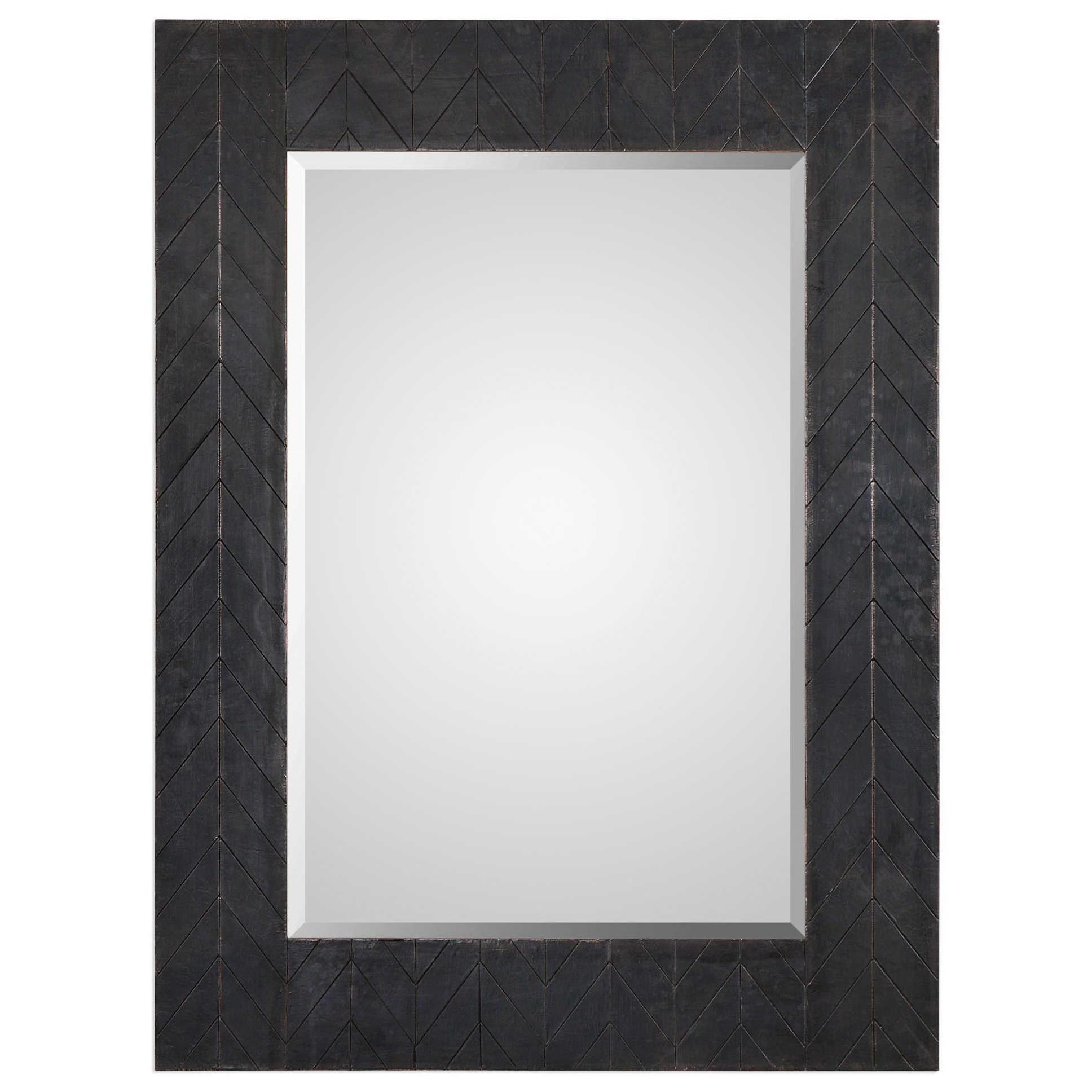 Mirrors Caprione Oxidized Dark Copper Mirror by Uttermost at Mueller Furniture