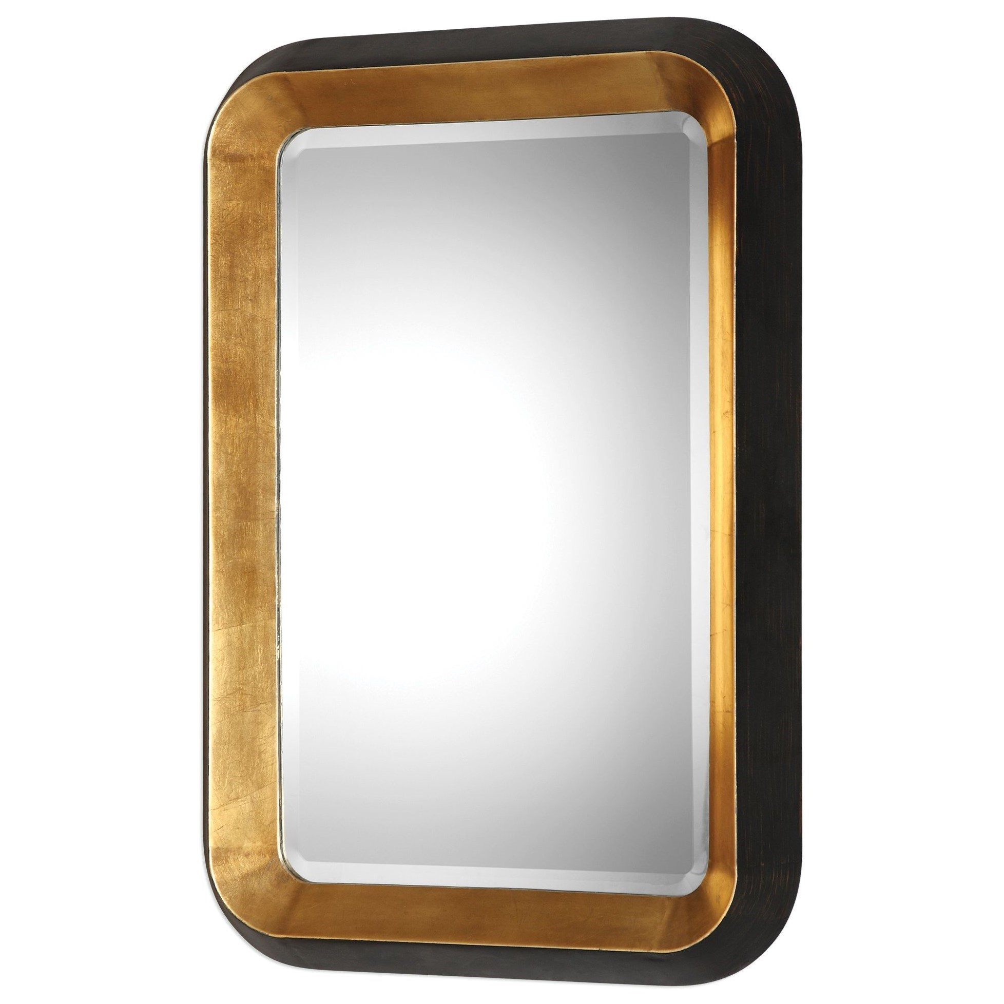 Mirrors Niva Metallic Gold Wall Mirror by Uttermost at Wayside Furniture