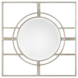 Zenon Contemporary Silver Mirror