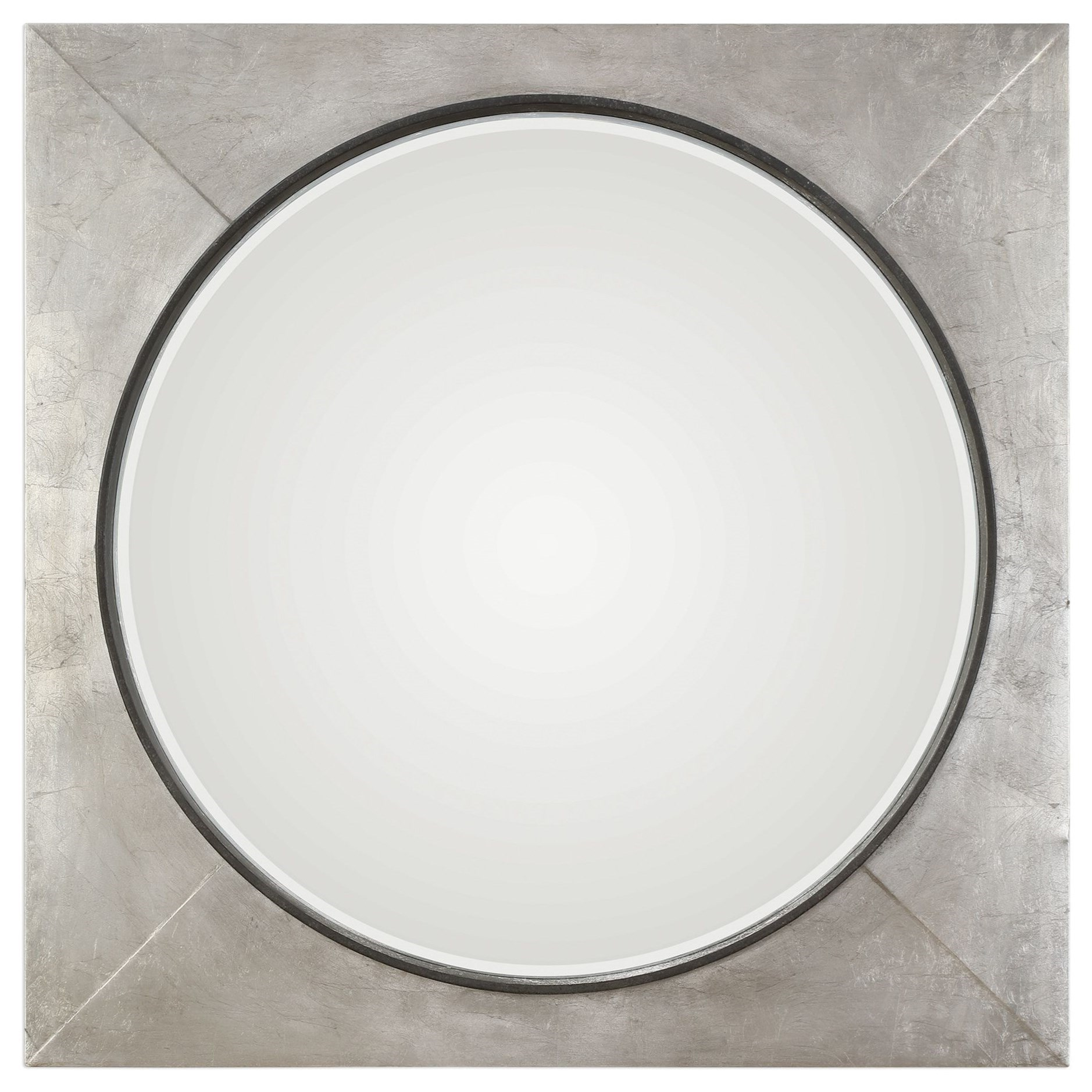 Mirrors Solomon Metallic Silver Mirror by Uttermost at Mueller Furniture