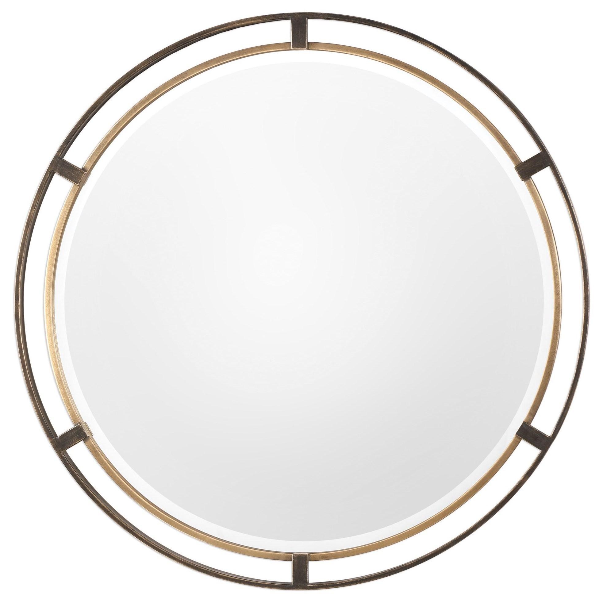 Mirrors - Round Carrizo Bronze Round Mirror by Uttermost at Mueller Furniture