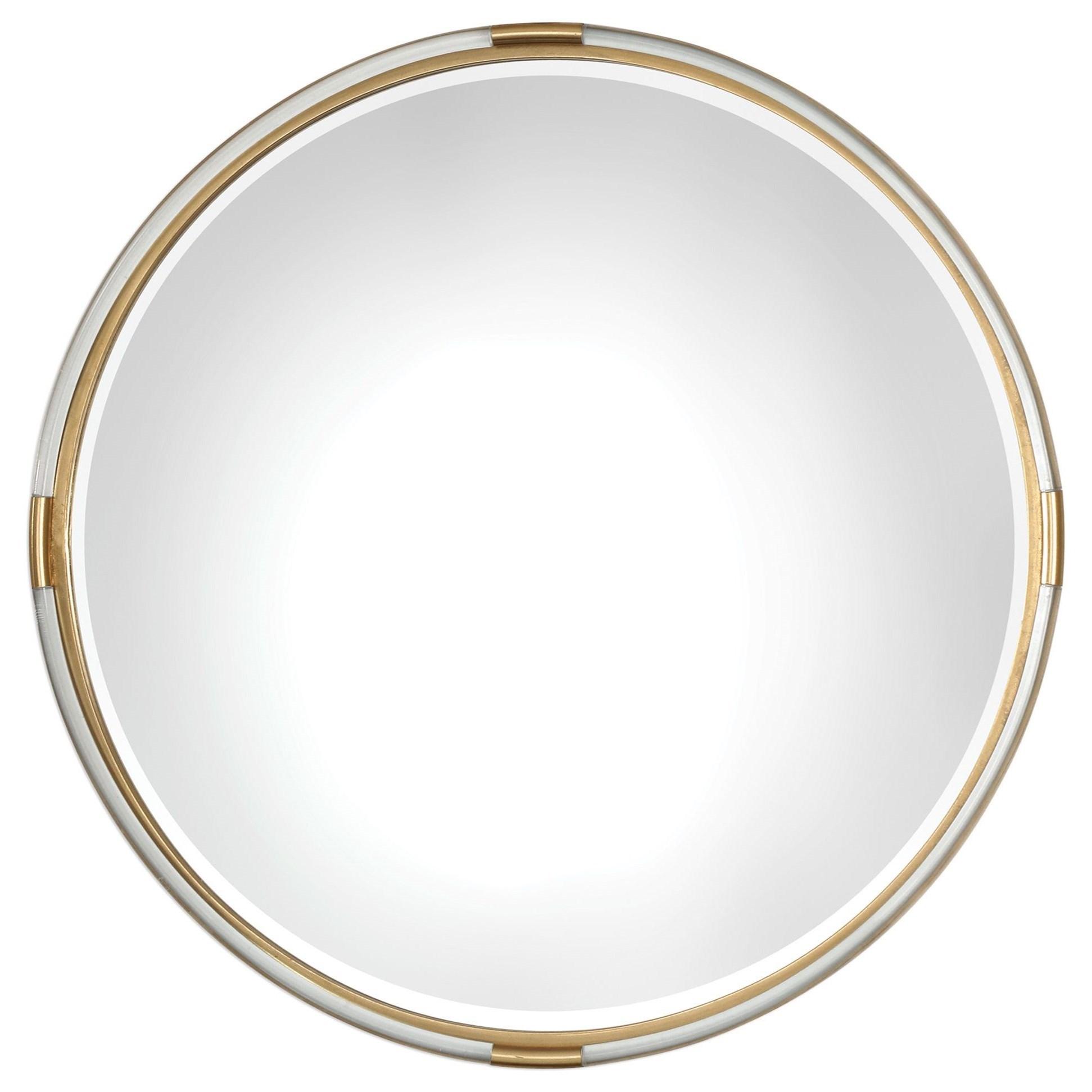 Mirrors - Round Mackai Round Gold Mirror by Uttermost at Mueller Furniture