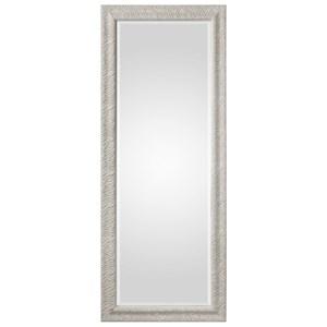 Pateley Aged White Wood Mirror