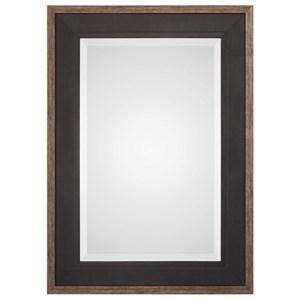 Staveley Rustic Black Mirror