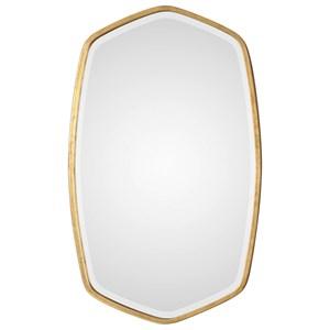 Duronia Antiqued Gold Mirror