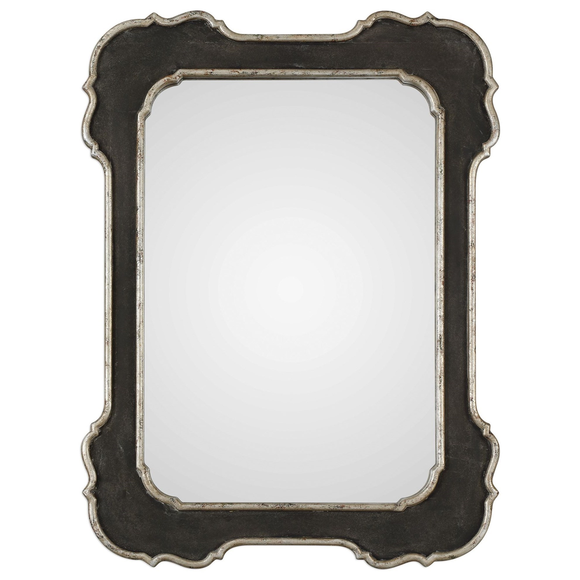 Mirrors Bellano Aged Black Mirror by Uttermost at Wayside Furniture