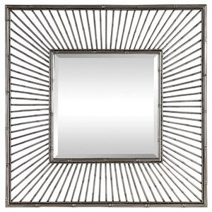 Anji Silver Square Mirror