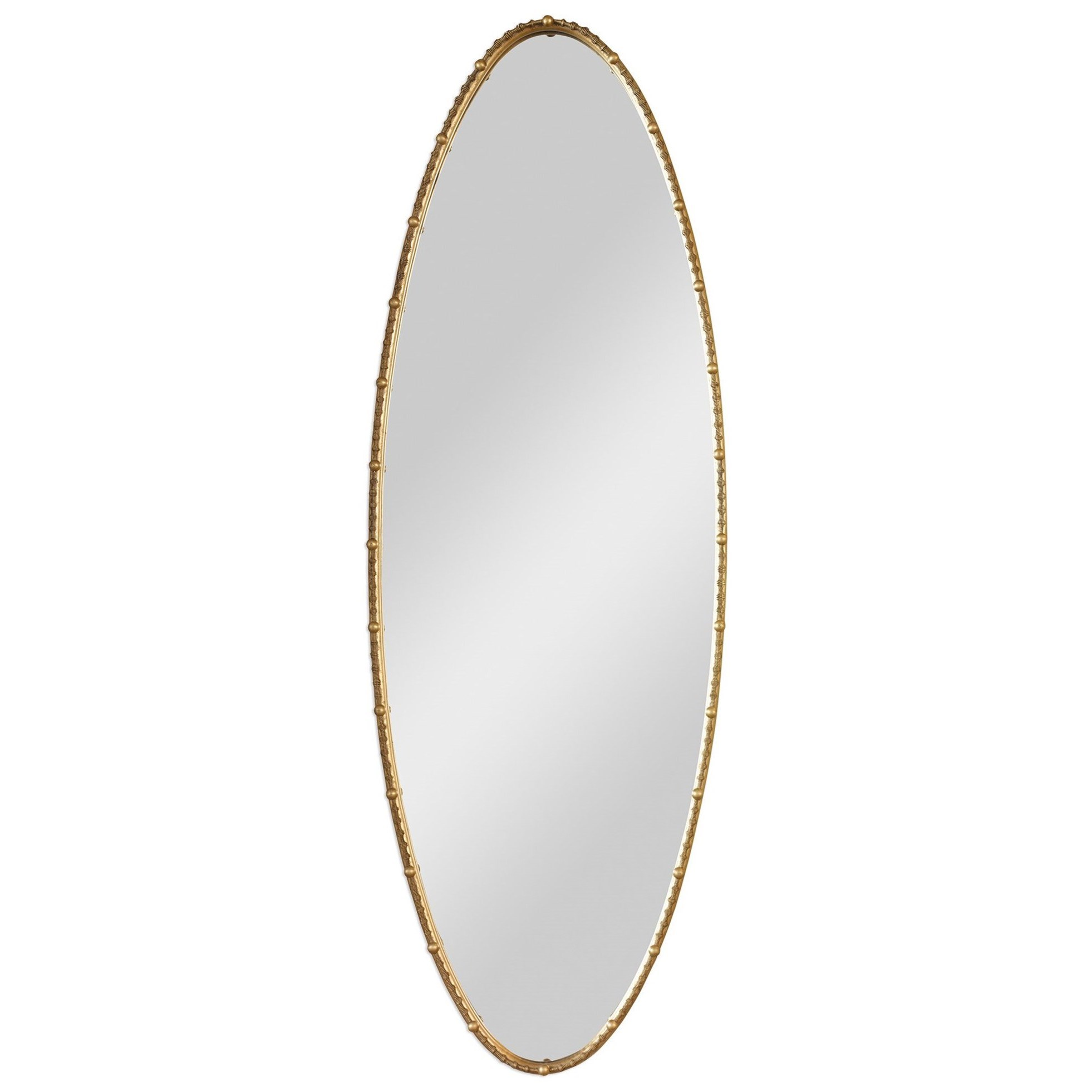 Mirrors - Oval Hadea Gold Oval Mirror by Uttermost at Miller Waldrop Furniture and Decor
