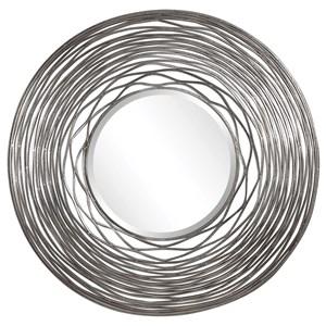 Galtero Round Silver Mirror
