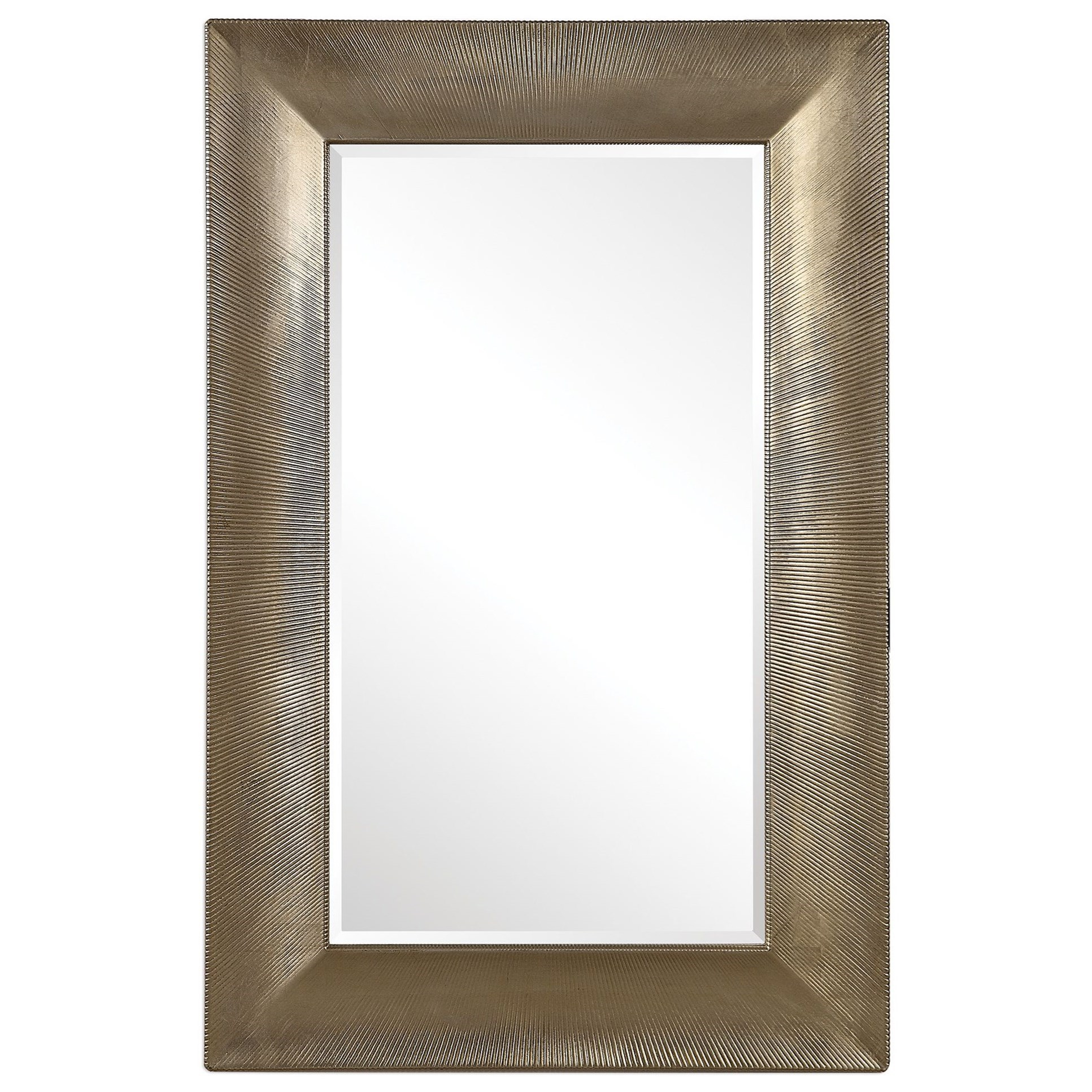 Mirrors Valenton Large Champagne Mirror by Uttermost at Suburban Furniture