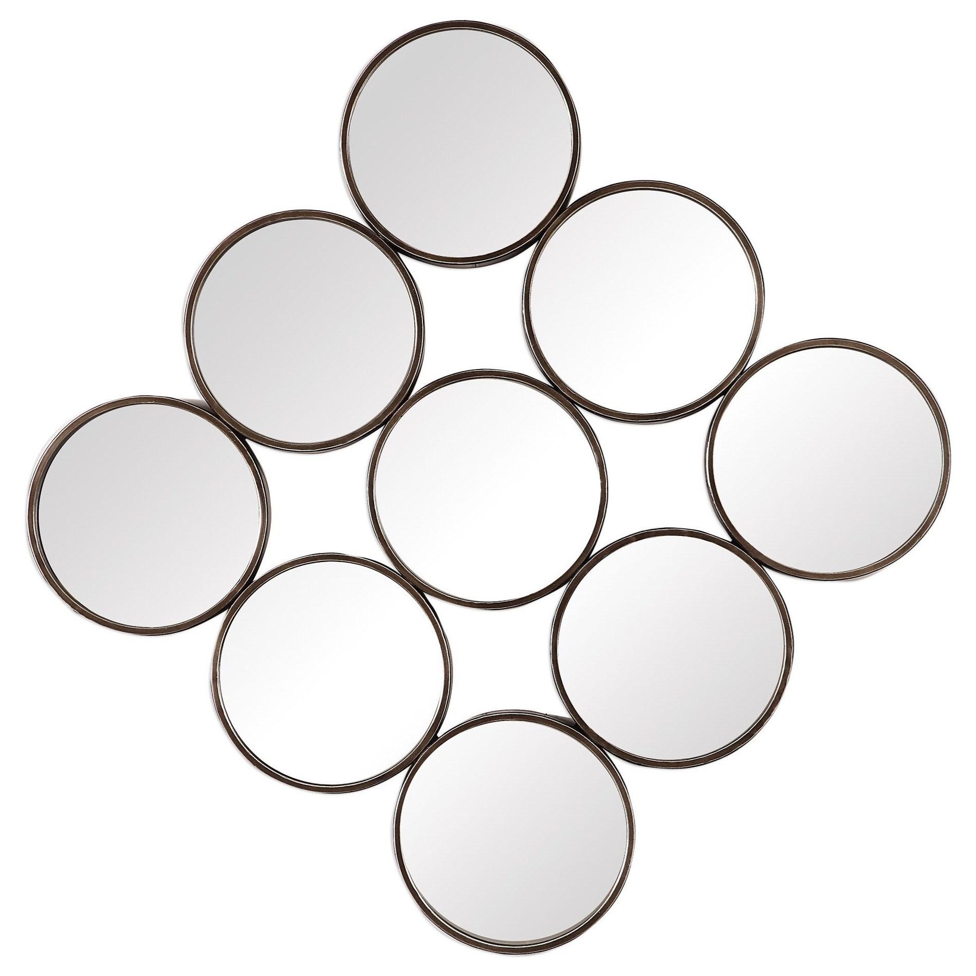 Mirrors - Round Devet Welded Iron Rings Mirror by Uttermost at Mueller Furniture