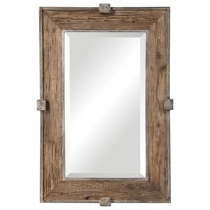 Siringo Weathered Wood Mirror