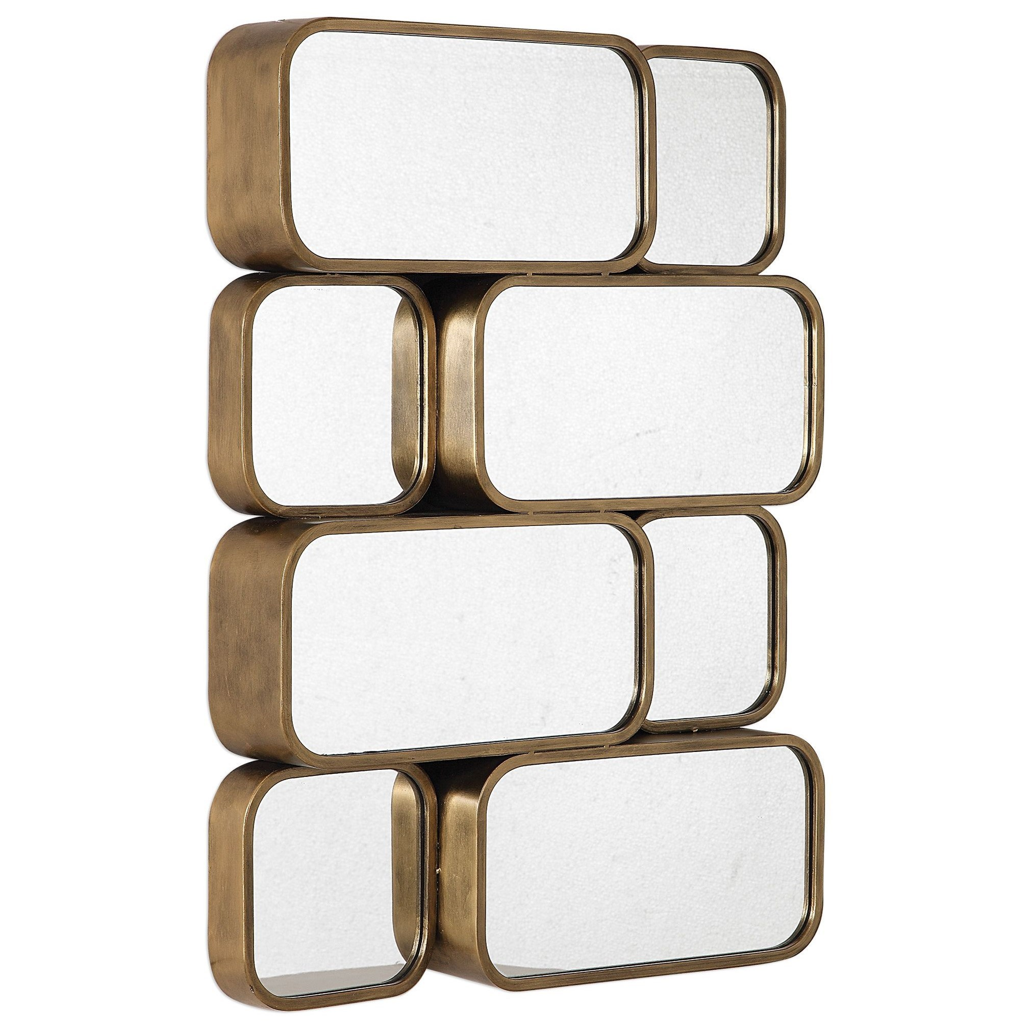 Mirrors Canute Modern Gold Mirror by Uttermost at Miller Waldrop Furniture and Decor
