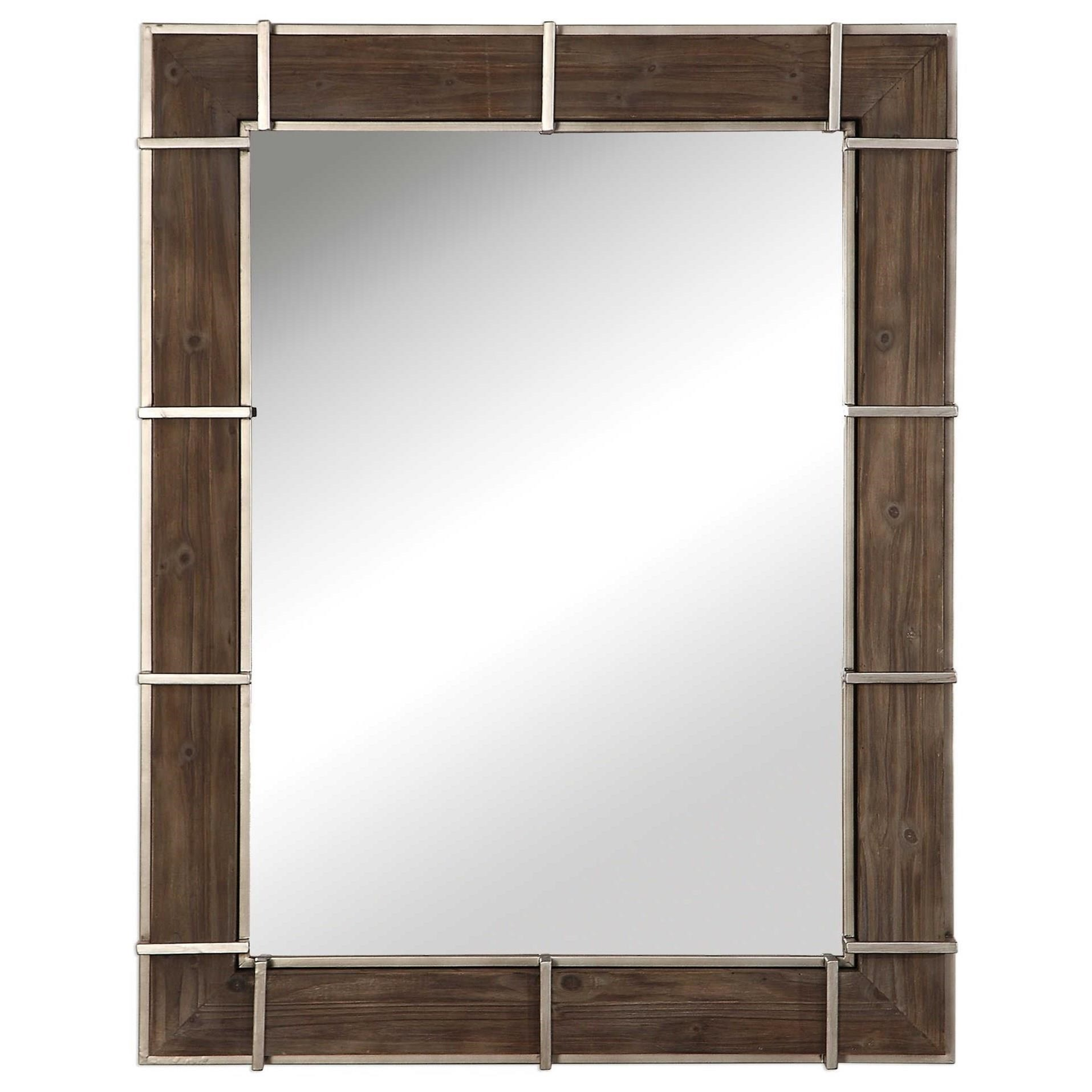 Mirrors Wade Wooden Industrial Mirror by Uttermost at Wayside Furniture