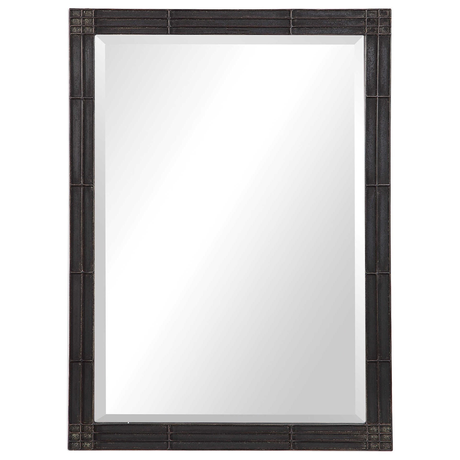 Mirrors Gower Aged Black Vanity Mirror by Uttermost at Wayside Furniture