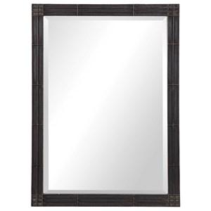 Gower Aged Black Vanity Mirror