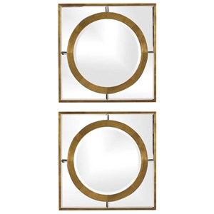 Gaza Gold Square Mirrors (Set of 2)