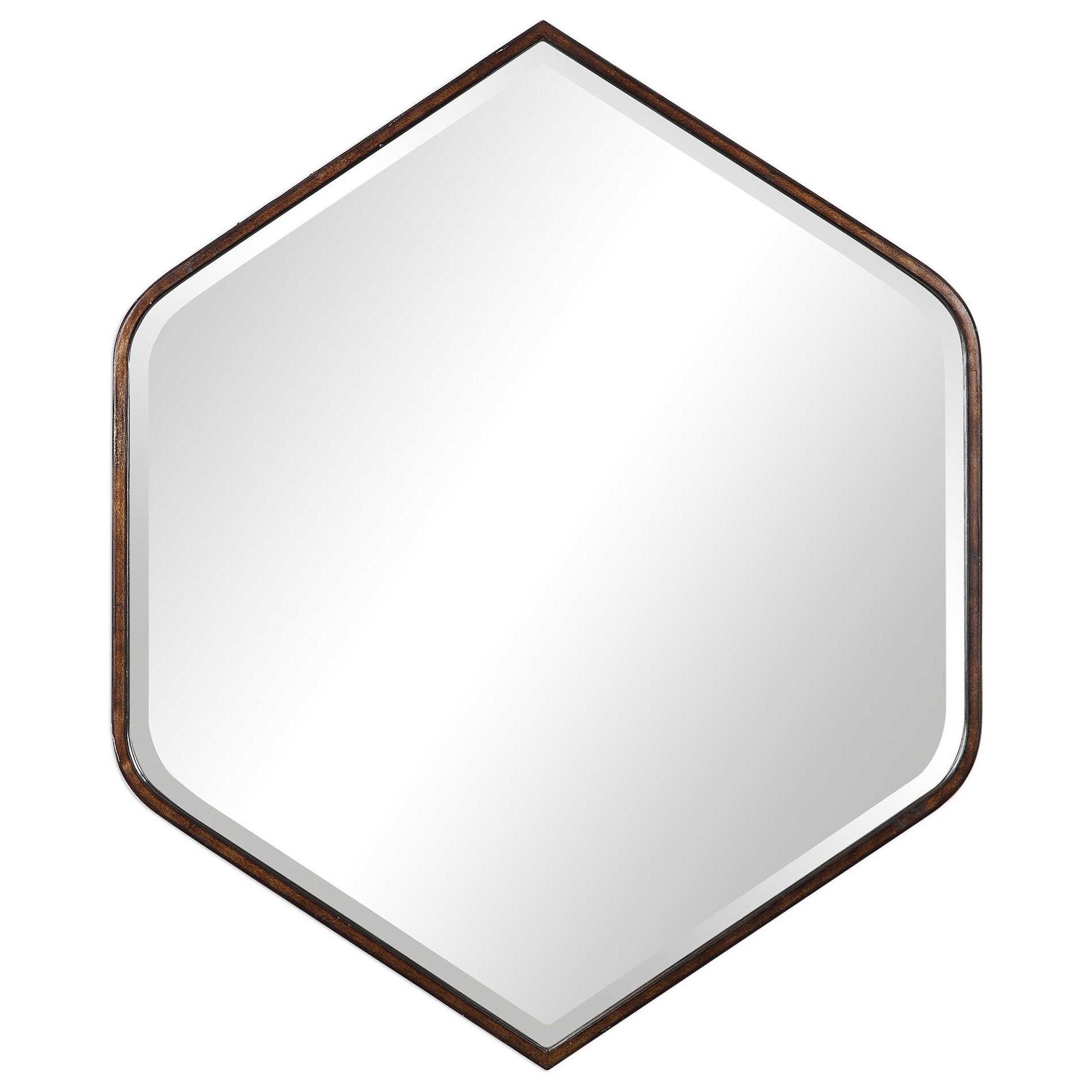Magda Hexagon Wall Mirror