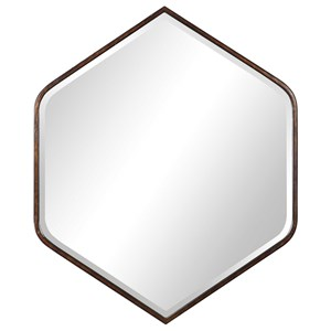 Magda Hexagon Wall Mirror