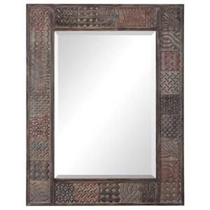 Kele Carved Wood Mirror