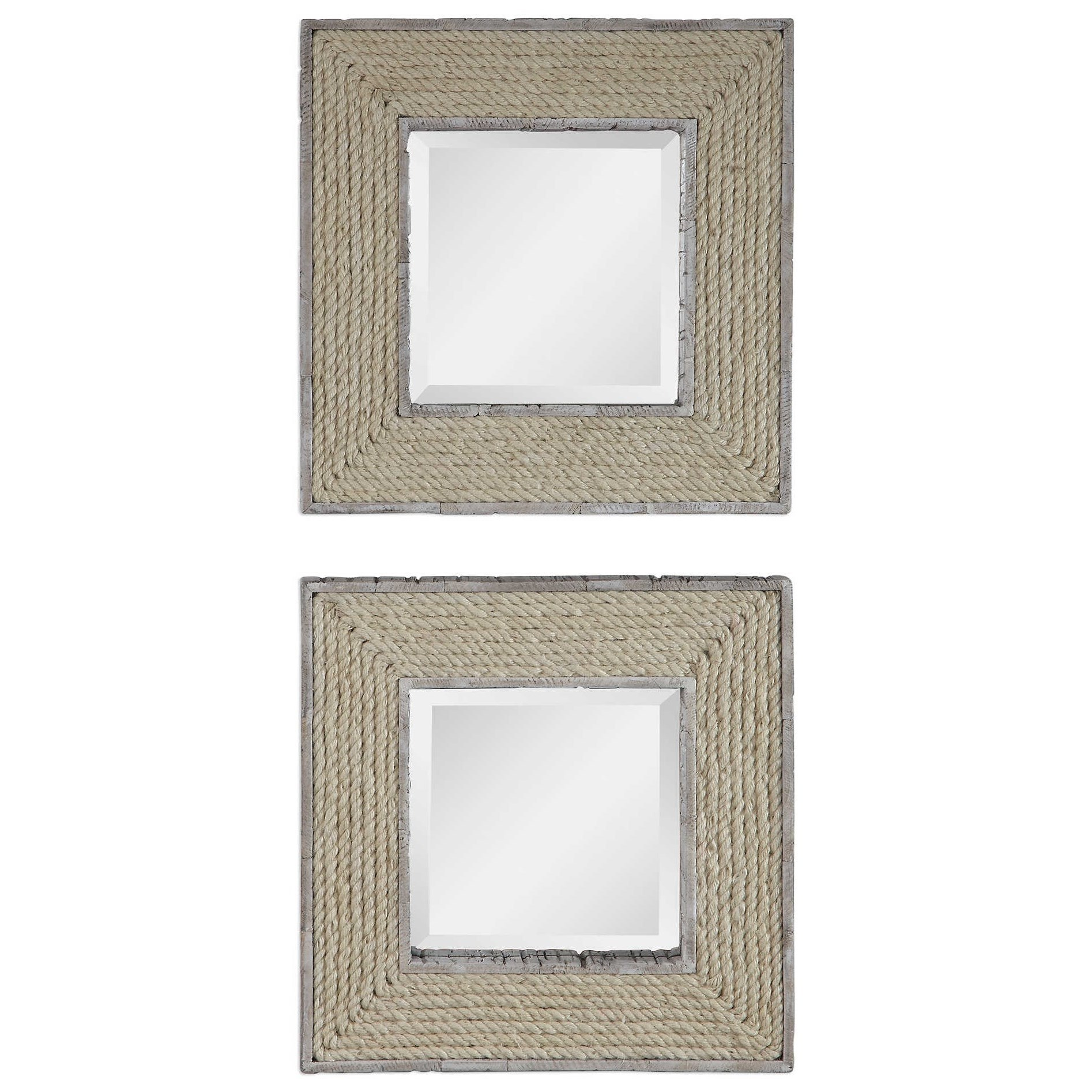 Mirrors Cambay Square Mirrors (Set of 2) by Uttermost at Wayside Furniture